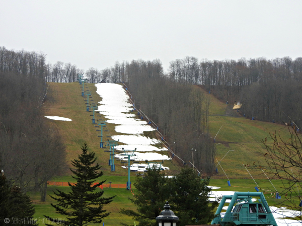 Ski Slopes At Holiday Valley